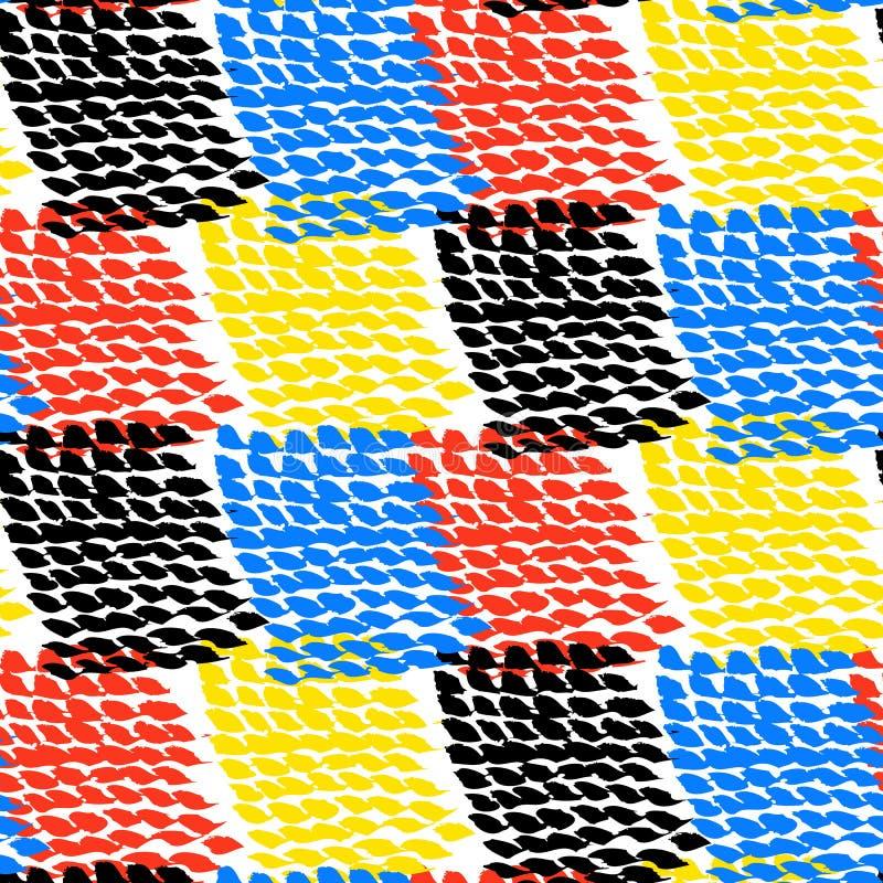 El color pintado a mano bloqueó el modelo del vector stock de ilustración