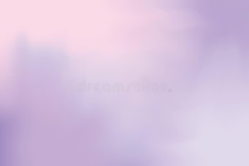 El color suave púrpura mezcló el extracto en colores pastel del arte de la pintura del fondo, papel pintado colorido del arte ilustración del vector