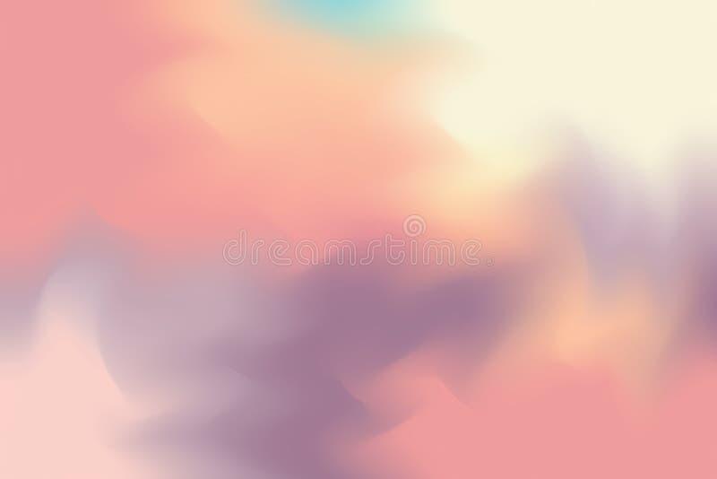 El color suave rojo marrón mezcló el extracto en colores pastel del arte de la pintura del fondo, papel pintado colorido del arte libre illustration