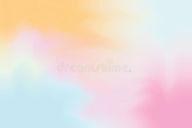 El color suave rosado anaranjado mezcló el extracto en colores pastel del arte de la pintura del fondo, papel pintado colorido de libre illustration
