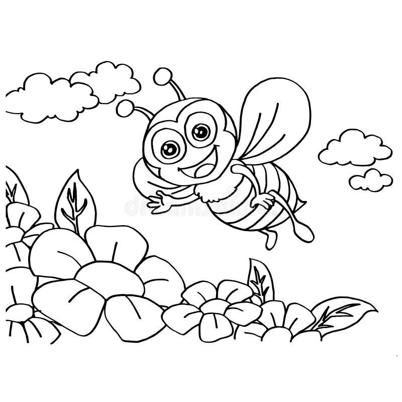 El colorante de la abeja pagina vector ilustración del vector
