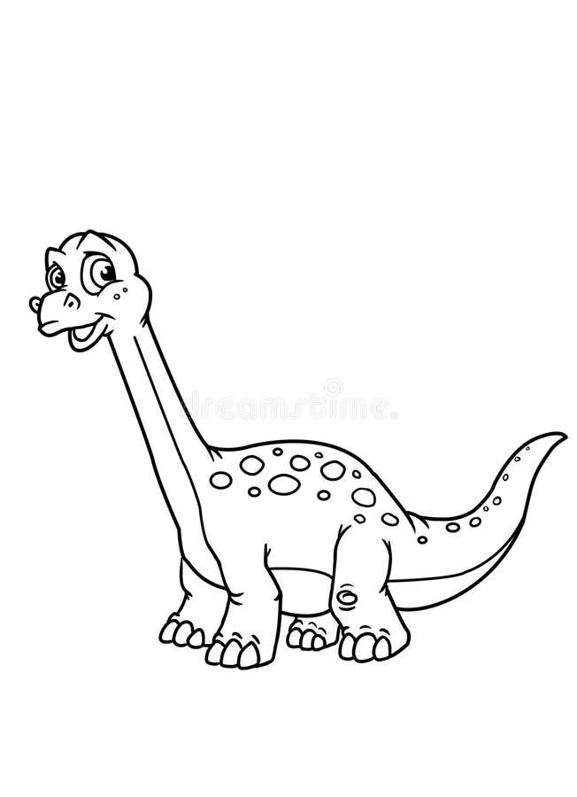 El colorante pagina el dinosaurio libre illustration