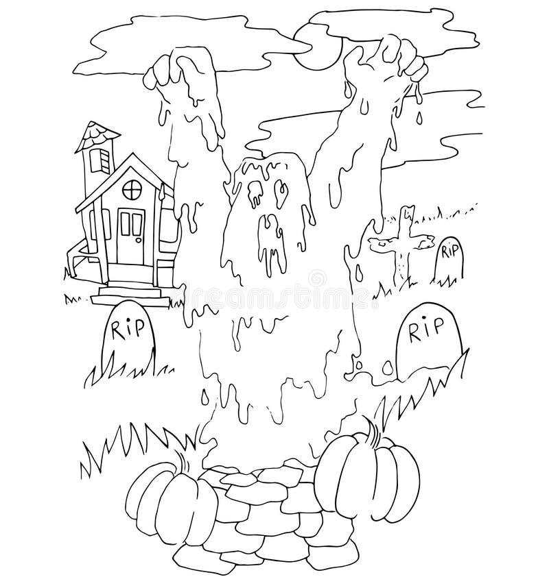 Fantástico Halloween Hojas De Trabajo Además Colorantes Viñeta ...