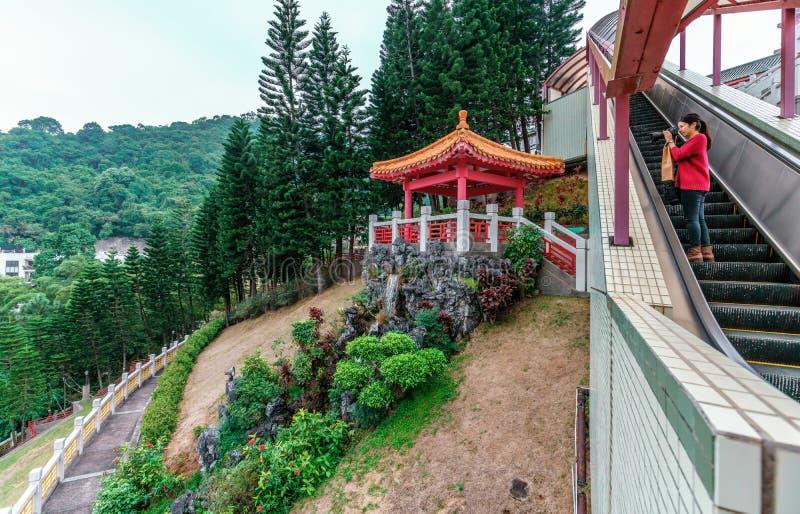 El columbarium del Po Fook Memorial Hall en Hong Kong es cementerio en la ubicación de Shatin imagen de archivo libre de regalías