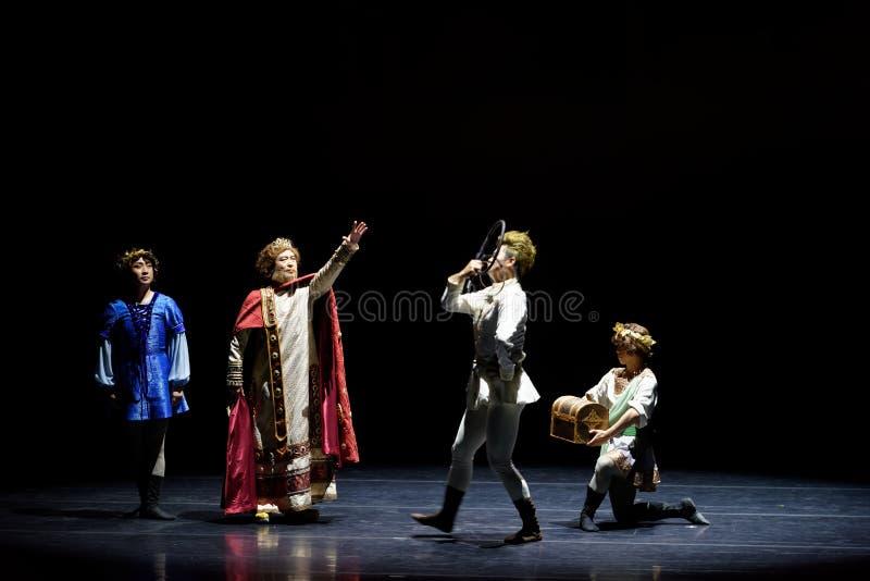 El comando del rey del ` de seda de la princesa del ` del drama del baile folclórico foto de archivo libre de regalías