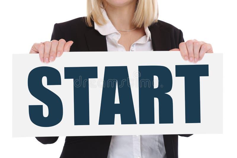El comenzar del comienzo comienza a comenzar el mot de las metas de la carrera del concepto del negocio imagen de archivo