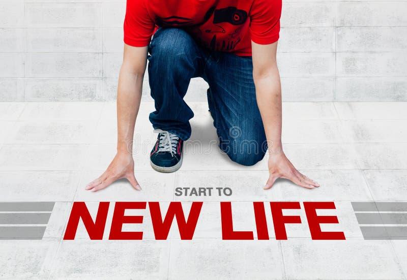 El comienzo corre a la nueva vida, lista comience a la actividad o al negocio fotos de archivo libres de regalías