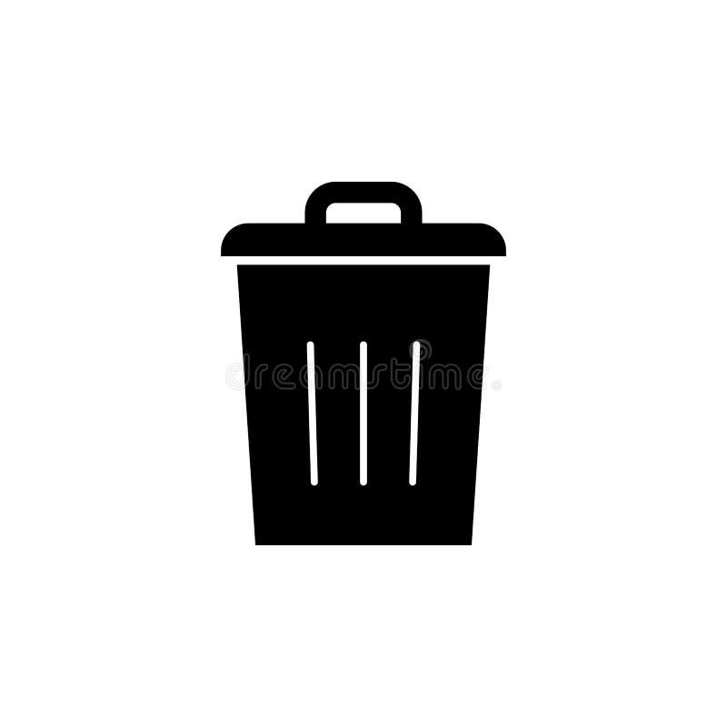 El compartimiento, cancelación, quita el icono Las muestras y los símbolos se pueden utilizar para la web, logotipo, app móvil, U stock de ilustración
