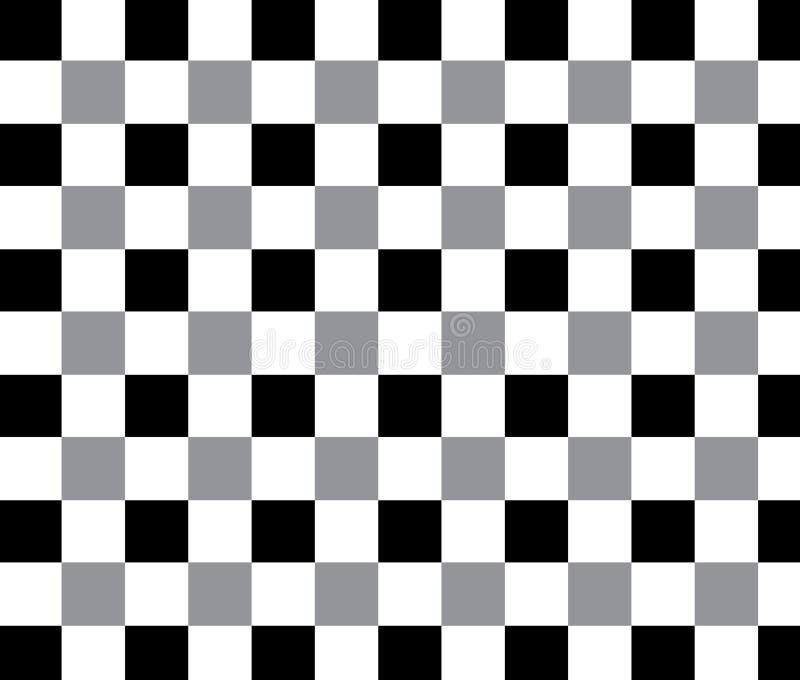 El competir con blanco y negro y modelo a cuadros ilustración del vector