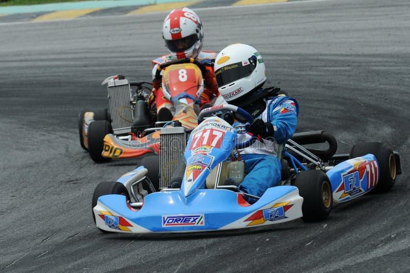 El competir con de Kart fotografía de archivo libre de regalías