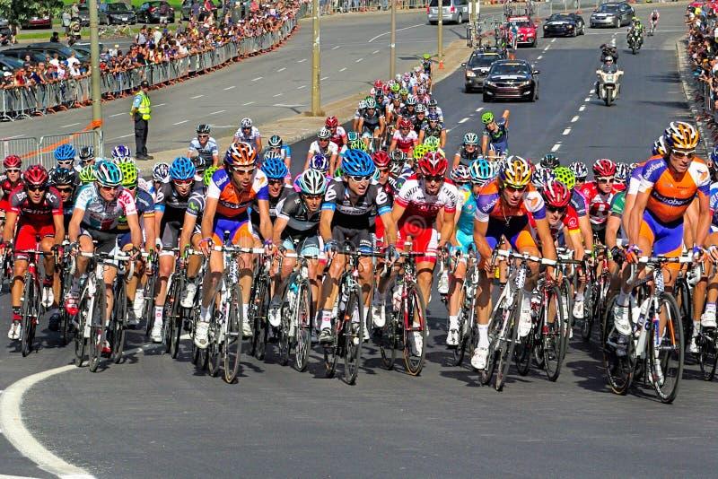 El competir con de la bicicleta foto de archivo