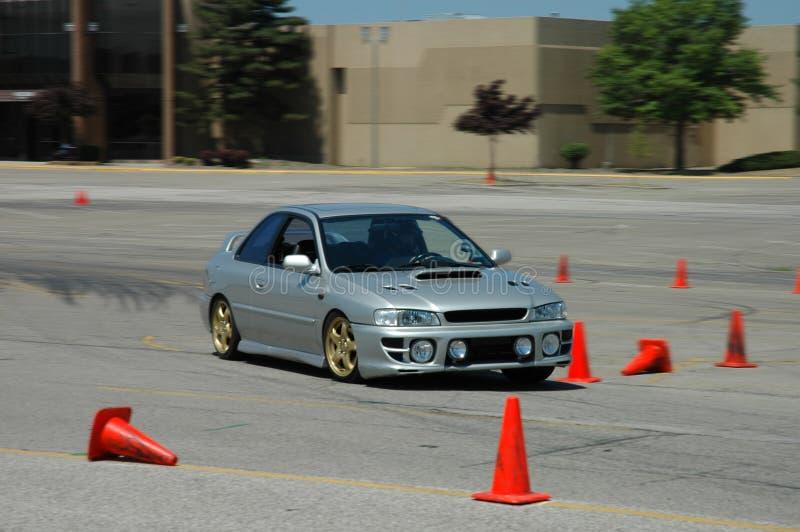 El competir con de Subaru Impreza imagen de archivo libre de regalías