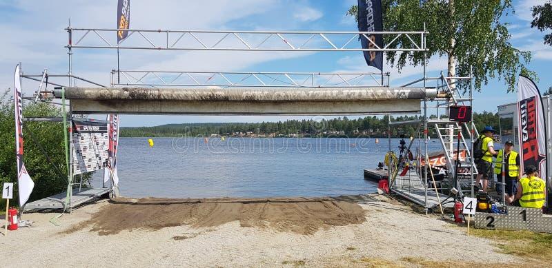 El competir con de Watercross imagenes de archivo