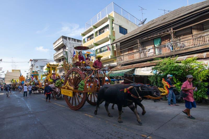 El competir con del búfalo del festival imagenes de archivo