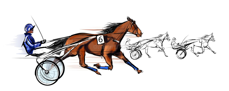 El competir con del carro del caballo libre illustration