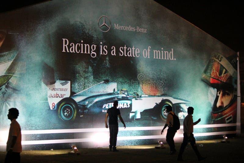 El competir con es un estado de ánimo - Mercedes Benz imágenes de archivo libres de regalías