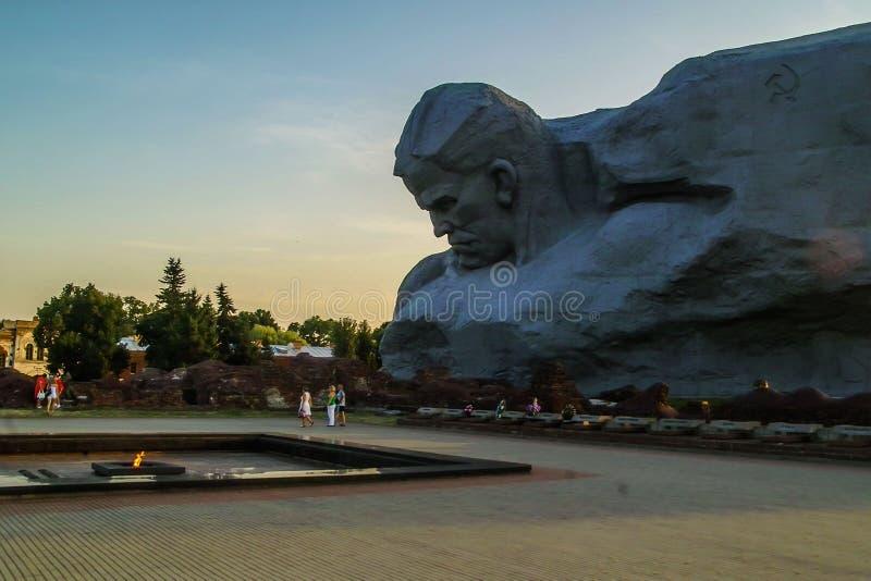 El complejo conmemorativo de la fortaleza de Brest en Bielorrusia imagen de archivo libre de regalías
