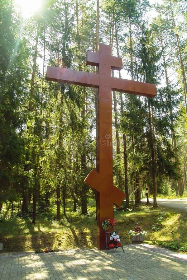 El complejo conmemorativo en Katyn en la región de Smolensk de Rusia foto de archivo