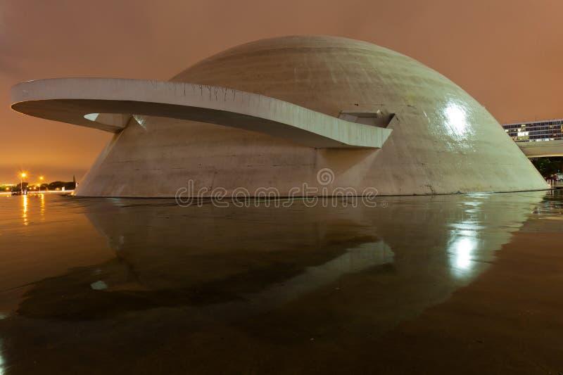 El complejo cultural en Brasilia imagenes de archivo