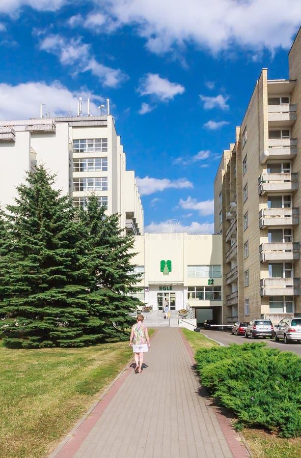 El complejo de los edificios del sanatorio médico del balneario Druskininkai foto de archivo