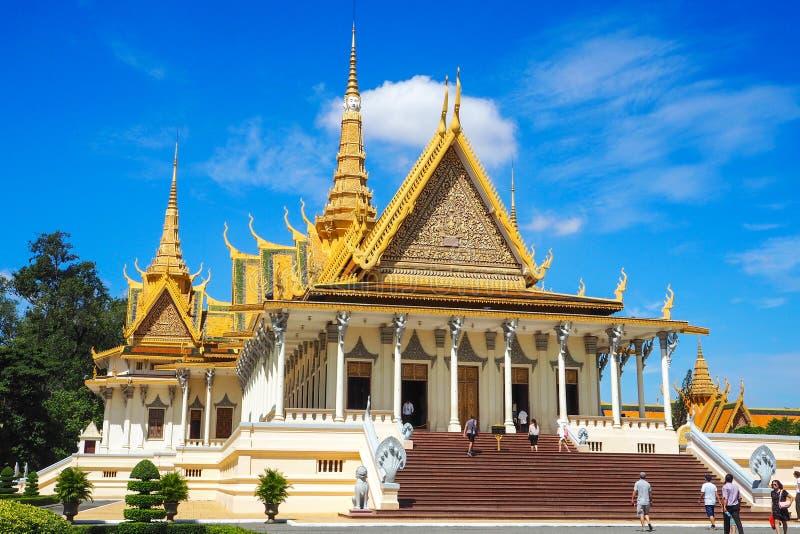 El complejo en Phnom Penh, una obra maestra arquitectónica imponente de Royal Palace de Camboya imagen de archivo libre de regalías
