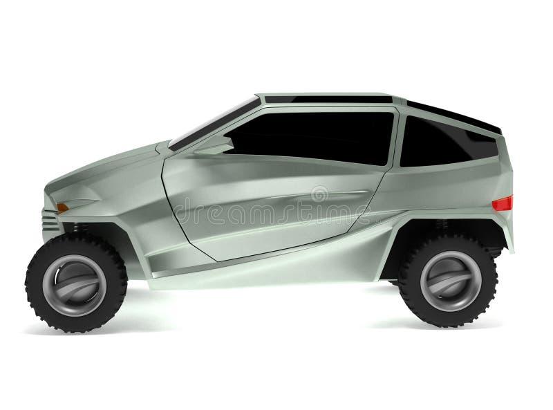 El concepto campo a través del coche se nombra Rex foto de archivo libre de regalías