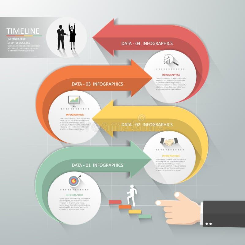 El concepto de diseño plano de la flecha a apuntar, se puede utilizar para el concepto del negocio ilustración del vector