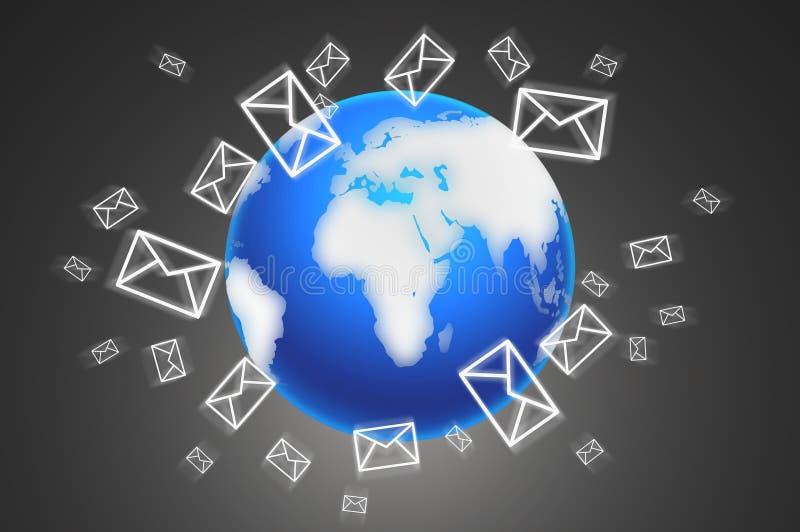 El concepto de enviar mensajes ilustración del vector