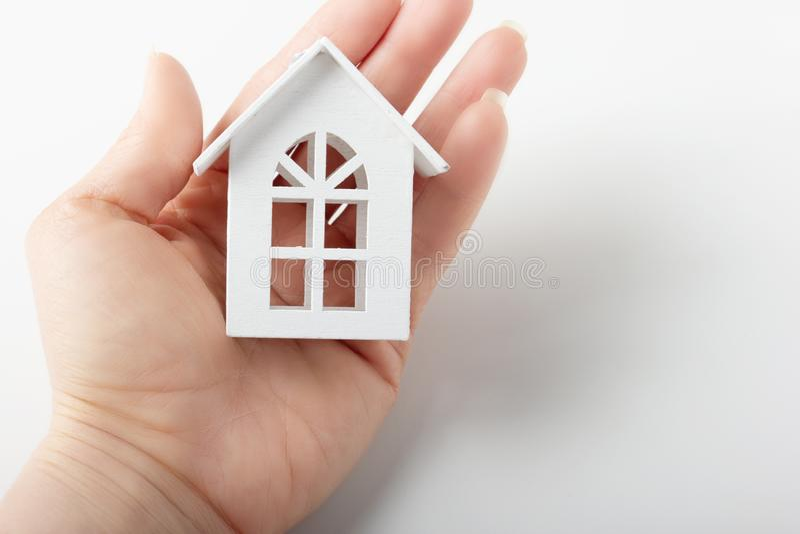 El concepto de hogar, valores familiares fotos de archivo libres de regalías