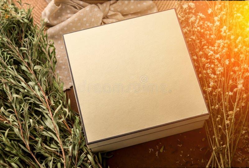 El concepto de la víspera del ` s de Newyear con la actual caja y el viaje del verano rellenan o imagen de archivo