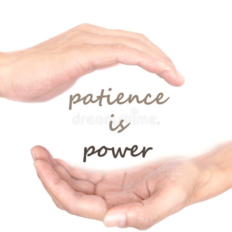 El concepto de las manos para la paciencia es poder fotografía de archivo libre de regalías
