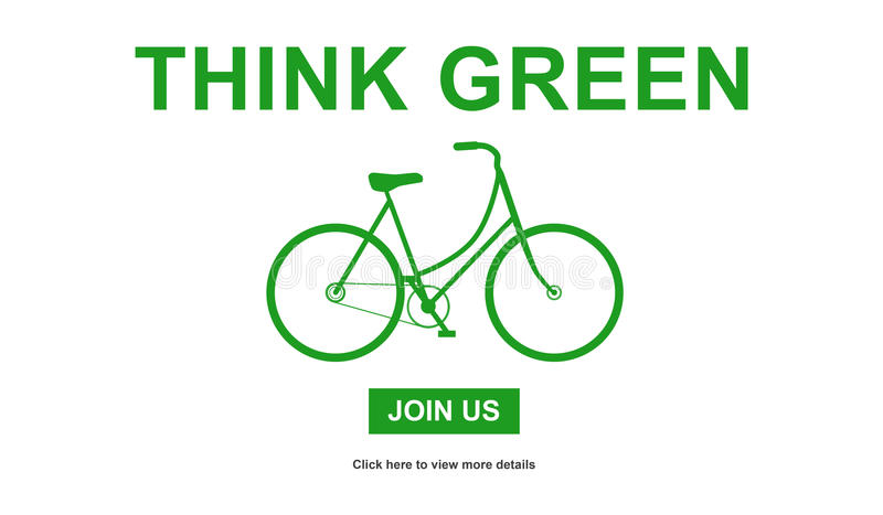 El concepto de piensa verde libre illustration