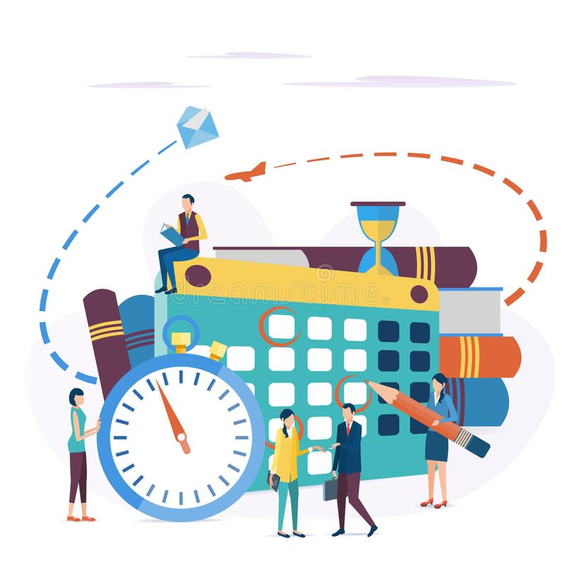 el concepto de planificación de empresas stock de ilustración