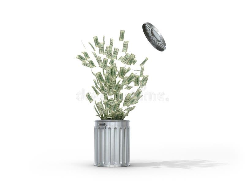 El concepto de planta del reciclaje de residuos libre illustration