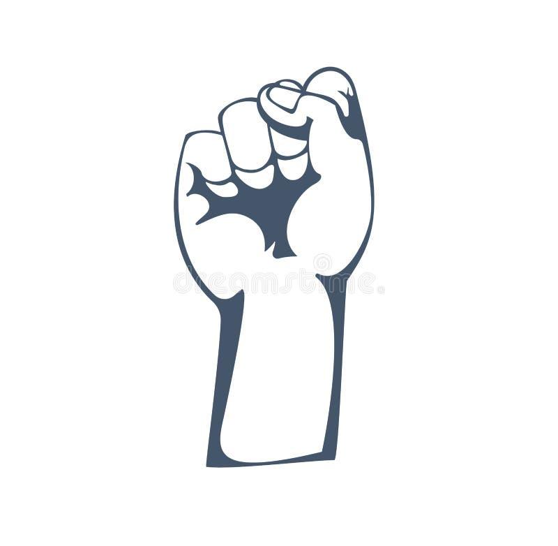 El concepto de resistencia, fuerza, libertad, mayoría, dirección, protesta, defendiendo endereza stock de ilustración