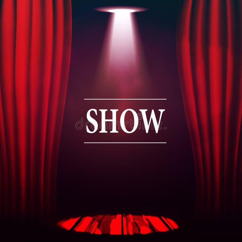 El concepto de teatro, de funcionamientos, de demostraciones y de entretenimiento libre illustration