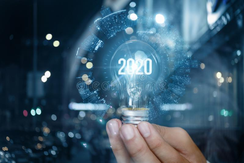 El concepto de un nuevo negocio en 2020 fotografía de archivo