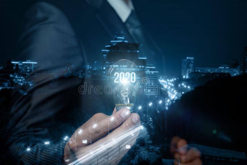 El concepto de un nuevo negocio y de los nuevos yeas 2020 imagenes de archivo