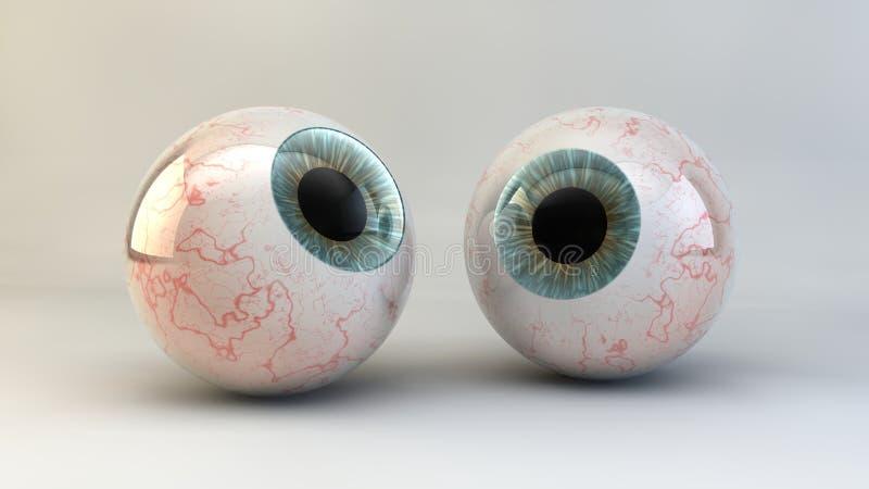 El concepto de un ojo en un fondo blanco. imagenes de archivo