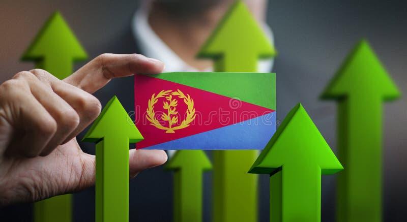 El concepto del crecimiento de la nación, se pone verde encima de las flechas - hombre de negocios Holding Car libre illustration