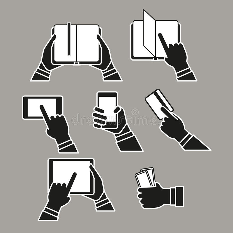 El concepto del fransfer de la información siluetea el clip art libre illustration