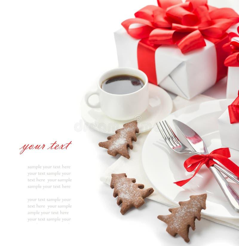 El concepto del menú del día de fiesta de la Navidad imagen de archivo libre de regalías