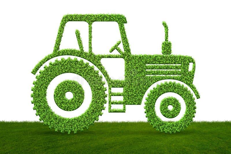 El concepto ecléctico del vehículo de la emisión baja verde - representación 3d ilustración del vector