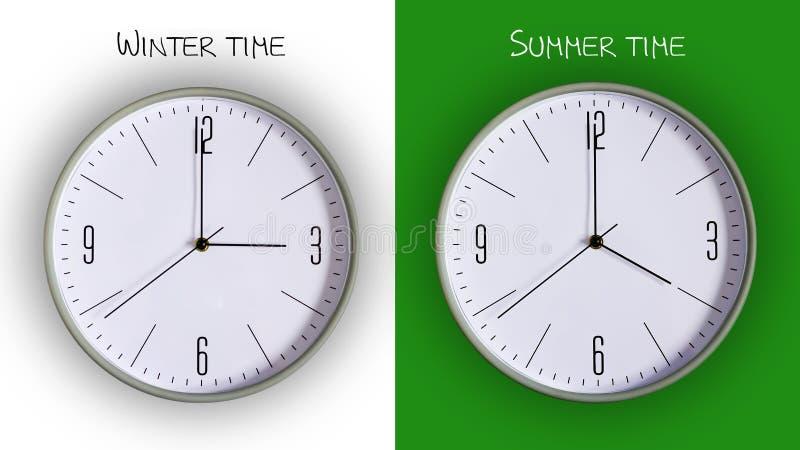 El concepto es la transición al tiempo de verano Gallo en el fondo blanco y verde fotos de archivo