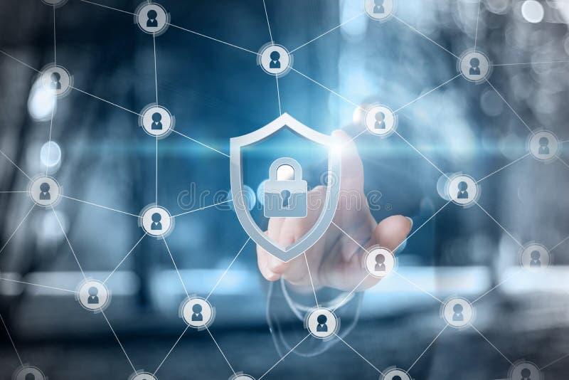 El concepto es el principio de sistema de seguridad stock de ilustración