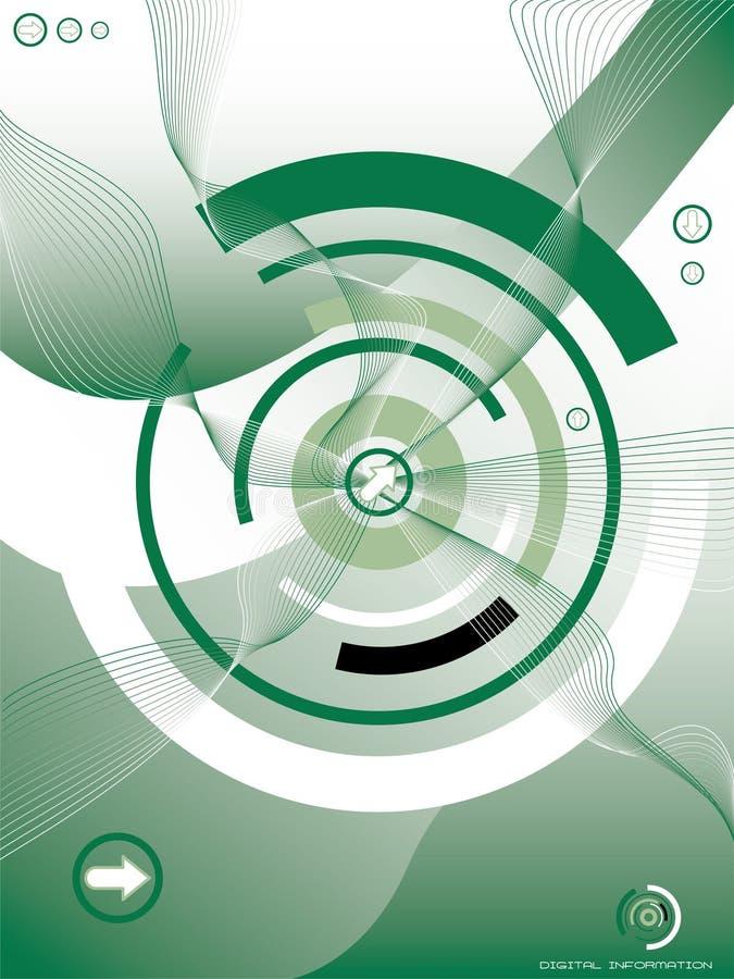 El concepto irradia verde ilustración del vector