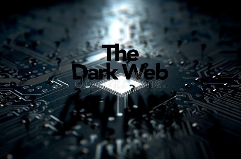 El concepto oscuro del web foto de archivo