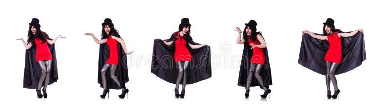 El concepto satan de Halloween aislado en blanco fotografía de archivo libre de regalías