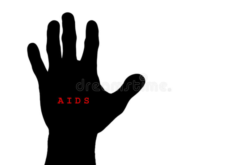 El concepto SIDA de la parada, parada aislada AYUDA, SIDA escrito a mano libre illustration