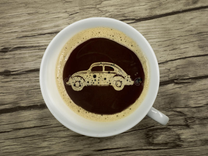 El concesionario de coches ofrece el café fotos de archivo libres de regalías